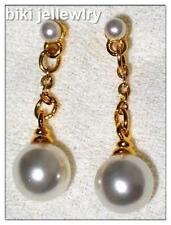 Alloy Pearl Yellow Gold Fashion Earrings