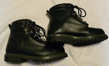Wrangler Work Wear Mens Size 6.5 Black Steel Toe Work Boots Slip & Oil Resistant