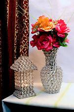 Crystal Flower Vase Wedding Centerpieces Handmade Flower Pots Home Decor 24CM