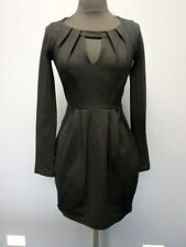 FRENCH CONNECTION Black Long Sleeves Solid Front Cutout Dress NWT Sz 0 EE5218