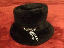 NOS Toby Of London Martelle Body Made In West Germany Black Felt Hat w/ Chain