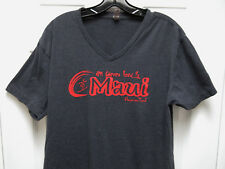 All Waves Lead To Maui Hawaiian Time Surfing V Neck T Shirt Mens L