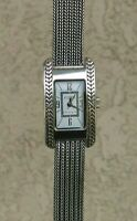 "ECCLISSI STERLING SILVER FOXTAIL BRACELET  WATCH 6 1/4"" WRIST NEW BATTERY"