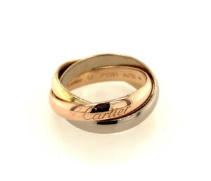 Cartier Trinity Ring 18K Tricolor, Yellow, White & Pink Gold Medium - Size 52