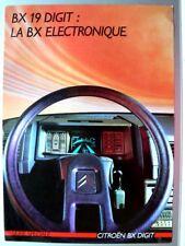 Catalogue CITROEN  BX DIGIT  Electronique car prospekt  brochure    1986