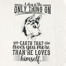 Puppy Dog quote graphic tee Men's crew neck soft 100% cotton white t-shirt
