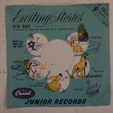"78rpm 10"" paper gramophone record sleeve / cover CAPITOL JUNIOR RECORDS"