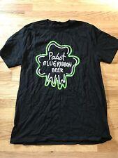 pabst blue ribbon shirt Black Green Xl