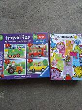 Children's Puzzle Bundle-Ravensburger Vehicle Puzzle & Little Miss Number Puzzle
