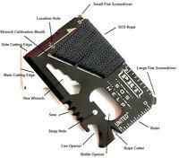 Portable SOS Outdoor Survival Camping Multi-Tools Wallet Card 14 Functions