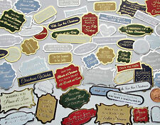 HUNKYDORY.. 30 Foiled Christmas Sentiments Card Toppers