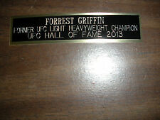 FORREST GRIFFIN (UFC) NAMEPLATE FOR SIGNED DISPLAY CASE/TRUNKS CASE/PHOTO