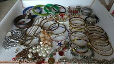 LOT 42 pcs bracelets jewelry all good condition wearable wooden glass assortment
