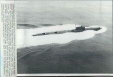 1971 Soviet Echo II Class Nuclear Submarine Press Photo