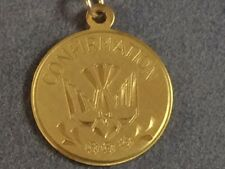 """Confirmation medal yellow gold filled with 18"""" chain (EB1)"""
