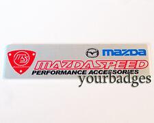 New Brushed Aluminium Mazda Mazdaspeed Performance Accessories Car badge RX8