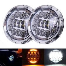 "2X 7"" Round LED Headlight Halo Hi/Low Beam DOT For Jeep Wrangler JK TJ CJ Hummer"