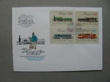 PORTUGAL, cover FDC 1981, 125 years railway, train