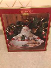 Spode Christmas Tree Santa Dish (EUC)
