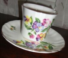VTG ROYAL AVON BONE CHINA HAMMERSLEY THE PANSY FROM HAMLET CUP SAUCER ENGLAND