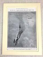 1915 WW1 Print French pilot Roland Garros Dogfight German Biplane Air Combat