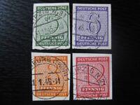 WEST-SACHSEN SOVIET OCCUPATION ZONE Mi. #116Y-119Y used stamp set! CV $120.00