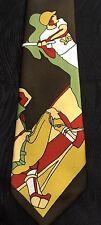 Vintage 1960s or 1970s Bronzini Tie Necktie Baseball Sports Brown Super Rare