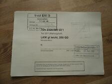 TDv 2320/085-22/1 (Wartungsheft) Mercedes 250 GD Wolf Nachdruck