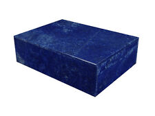 """BUTW Hand Crafted Afghan Lapis Lazuli 6"""" Jewelry Box Gorgeous Color 0825K ab"""