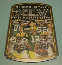 GREEN BAY PACKERS SUPERBOWL XLV CHAMPS WOOD PLAYER SIGN 3fd914d2c