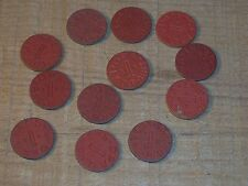 12 Vintage OPA Red Points, XN, XY,UX, VT, HT, UT, YC, Ration tokens