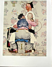 Norman Rockwell Poster print Tattoo Artist 14x11 Offset Lithograph Unsigned