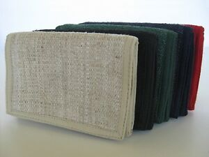Hemp Wallet ~ trifold style, handmade ~ 5 color options