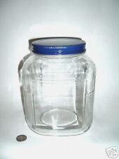 depression era cookie jar cobalt blue lid Mint New LOOK