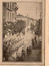 TURKIYE THESSALONIQUE SELANIK MANIFESTATION GENDARMES POLICE RIOT 1908 PRINT