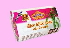 Anti Aging COLLAGEN AHA Rice Milk Soap Acne Wrinkles