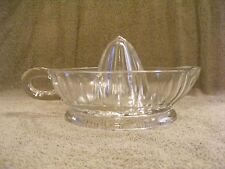 (A) CLEAR GLASS JUICER/REAMER