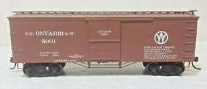 New York Ontario Western Railroad 36' Wood Box Metal Wheels Athearn Roundhouse