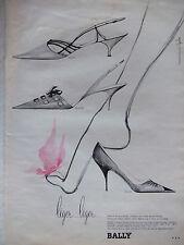 PUBLICITÉ DE PRESSE 1964 CHASSURES BALLY ESCARPIN SANDALE - ADVERTISING