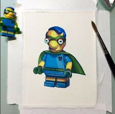 Lego Milhouse Fall Out Boy Minifigure Painting hand made artwork