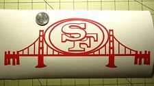 San Francisco 49ers car decal