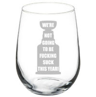 """New Disney Alice In Wonderland /""""I/'m Late//We/'re All Mad Here/"""" Stemless Wine Glass"""