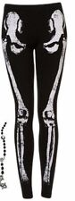 New TOPSHOP Women's Black Skeleton Studded Leggings NWOT!!!