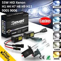 55W H1 H3 H7 H8 H9 H11 9005 9006 CANBUS Car HID Xenon Headlight Ballast Bulb Kit