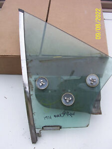 1974 1975 1976 LINCOLN MARK IV RIGHT DOOR VENT WINDOW GLASS USED OE THUNDERBIRD