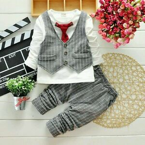 Boys Wedding suit 2-3-4 years christening Christmas birthday party suit UkSeller