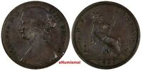 Great Britain Victoria Bronze 1863 1 Penny KM# 749.2 (17 067)