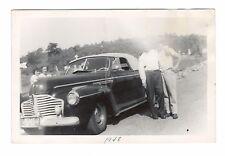 Vintage Photo 2 Men Classic Car 1940's Apl17
