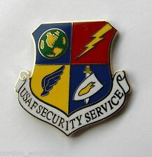 UNITED STATES AIR FORCE SECURITY SERVICE SHIELD LAPEL PIN BADGE 1 INCH