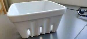 Berry Box White Collander Crate and Barrel. New!